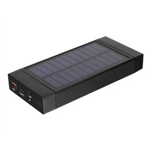 Aluratek APBQ16F - Power bank - solar Li-Ion 16000 mAh - 3 A - 2 output connectors (USB, USB-C)