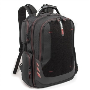 Mobile Edge Core Gaming Backpack with Velcro Panel Notebook Carrying Backpack 18 Inch - Black, Red
