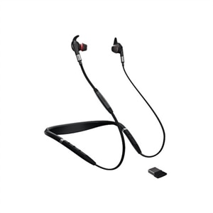 Jabra Evolve 75e UC Earphones with Mic in-ear Bud Bluetooth Wireless Active Noise Canceling