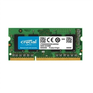 Crucial - DDR3L - 8 GB - SO-DIMM 204-pin - 1600 MHz / PC3L-12800 - CL11 - 1.35 V - unbuffered - ECC