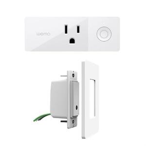 WeMo Mini Smart Plug Wireless with WeMo Light Switch
