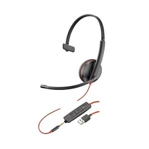 Plantronics Blackwire C3215 USB - 3200 Series Headset - on-ear - Wired - USB, 3.5 mm jack