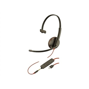 Plantronics Blackwire C3215 USB-C - 3200 Series Headset - on-ear - Wired - 3.5 mm jack, USB-C