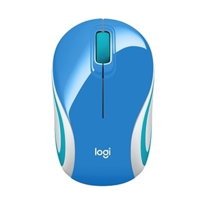 Logitech M187 - Mouse - optical - 3 buttons - wireless - 2.4 GHz - USB wireless receiver - blue