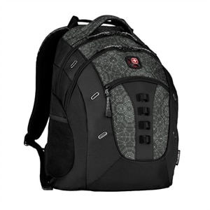 "SwissGear Granite Notebook Carrying Backpack - 16"" - Black, Geo Print"
