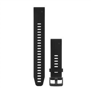 Garmin QuickFit Watch Strap - Large 20 Black Silicone - for fenix 5S