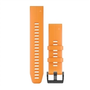 Garmin QuickFit Watch Strap 22 Solar Flare Orange Silicone - for Approach S60
