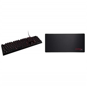 HyperX Alloy FPS Mechanical Gaming Keyboard Red with Gaming Mouse Pad