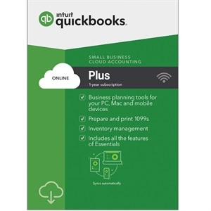Download QuickBooks Online Plus 2019, 1 Year Subscription