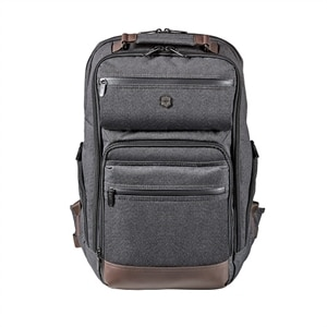 Victorinox Architecture Urban Rath Slim - Laptop carrying backpack - 17-inch - gray, brown
