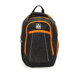 M-Edge Commuter Backpack with Battery - Laptop carrying backpack - 17-inch - black/orange