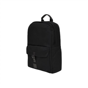 CHRISTOWE BLACK WAX CANVAS BACKPACK W/ TRIM FOR 15IN