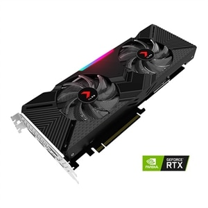 PNY XLR8 GeForce RTX 2080 Gaming Dual Fan - Overclocked Edition - graphics card - GF RTX 2080 - 8 GB - black/red