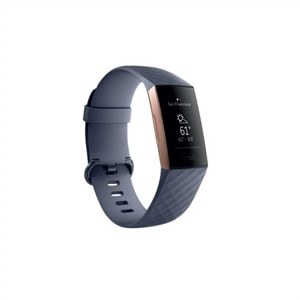 Fitbit Charge 3 - Rose gold activity tracker with sport band - Blue gray