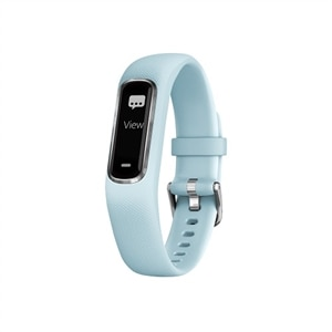 Garmin vivosmart 4 - silver - activity tracker with band - azure blue