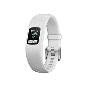 Garmin vívofit 4 - Activity tracker with band - TPU silicone - white - band size 4.8 in - 7.4 in - S/M - eight-color - Bluetooth, ANT+/ANT - 0.88 oz