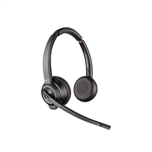 Plantronics Savi 8200 Series W8220-M Microsoft Headset On-Ear DECT 6.0 / Bluetooth, Wireless Active Noise Canceling