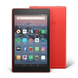"All-New Fire HD 8 Tablet Hands-Free with Alexa 8"" HD Display, 16 GB - Punch Red"