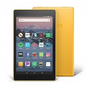 "All-New Fire HD 8 Tablet Hands-Free with Alexa 8"" HD Display, 16 GB - Canary Yellow"