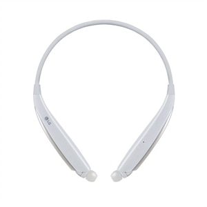 LG TONE Ultra α HBS-830 - Earphones with mic - in-ear - neckband - Bluetooth - wireless - white