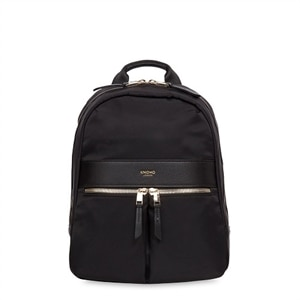 Knomo Mayfair Collection Mini Beauchamp - Backpack for Tablet - Fabric - Black, Gold
