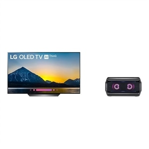 LG 65 Inch OLED 4K Smart HDR ThinQ AI TV - OLED65B8PUA UHD TV with FREE LG PK7 Portable Bluetooth Speaker