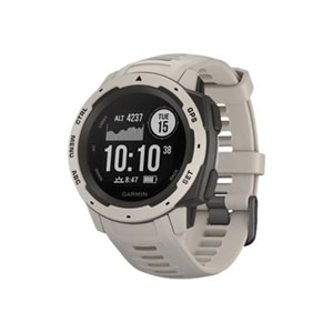 Garmin Instinct - Tundra - smart watch with band - silicone - monochrome - Bluetooth, ANT+ - 1.83 oz
