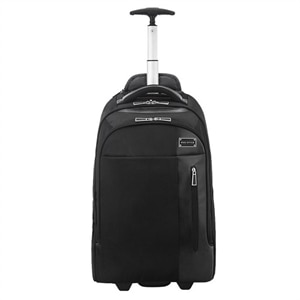 "ECO STYLE Tech Exec Rolling Backpack 17.3"" Black"