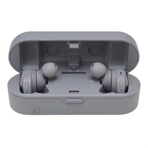 Audio-Technica ATH CKR7TW - True wireless earphones with mic - in-ear - Bluetooth - gray