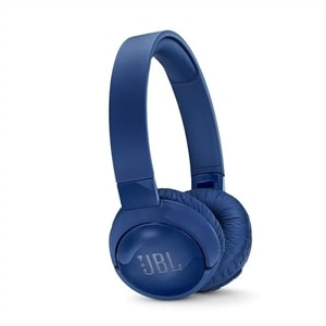 JBL TUNE 600BTNC - Headphones with mic - on-ear - Bluetooth - wireless - active noise canceling - blue