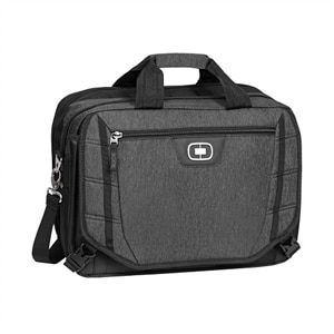 OGIO Circuit TZM - Laptop carrying shoulder bag - 15-inch - black, dark static