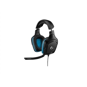 Logitech Gaming Headset G432 - Headset - 7.1 channel - full size - wired - USB, 3.5 mm jack - black