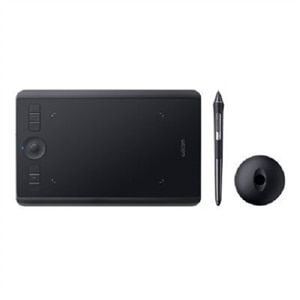 Wacom Intuos Pro Small - Digitizer - right and left-handed - 6.3 x 3.9 in - multi-touch - electromagnetic - 6 buttons - wireless, wired - Bluetooth, USB-C - Black