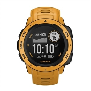 Garmin Instinct - Sunburst - smart watch with band - silicone - sunburst - monochrome - Bluetooth, ANT+ - 1.83 oz