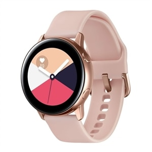"Samsung Galaxy Watch Active - Rose gold - smart watch with band - fluoroelastomer - display 1.1"" - 4 GB - Wi-Fi, NFC, Bluetooth - 0.88 oz"