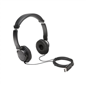 Kensington USB Hi-Fi Headphones - Headphones - on-ear - wired - Black