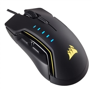 CORSAIR Gaming GLAIVE RGB - Mouse - optical - 6 buttons - wired - USB - black