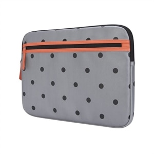 Targus - Arts Edition - Laptop sleeve - 15.6-inch - Polka dots - Gray/Salmon