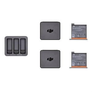 DJI Osmo Action Charging Kit - Battery charger + battery 2 x - Li-pol - 1300 mAh - 3 output connectors - for DJI Osmo Action