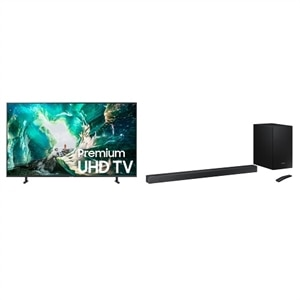 Samsung 55 Inch 4K Ultra HD Smart TV UN55RU8000F UHD TV with Samsung HW-R650 Soundbar
