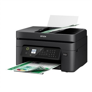 Epson WorkForce WF-2830 - Multifunction printer - color - ink-jet - Legal (8.5 in x 14 in) (original) - A4/Legal (media) - up to 10 ppm (printing) - 100 sheets - 33.6 Kbps - USB 2.0, Wi-Fi(n)