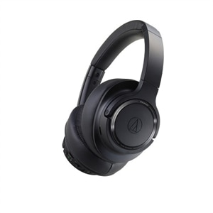 Audio-Technica ATH SR50BT - Headphones with mic - full size - Bluetooth - wireless - 3.5 mm jack - noise isolating - black
