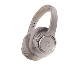 Audio-Technica ATH SR50BT - Headphones with mic - full size - Bluetooth - wireless - 3.5 mm jack - noise isolating - gray brown