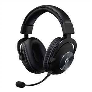 Logitech G Pro X with Blue VO!CE Technology - Headset - full size - wired - 3.5 mm jack - noise isolating - black