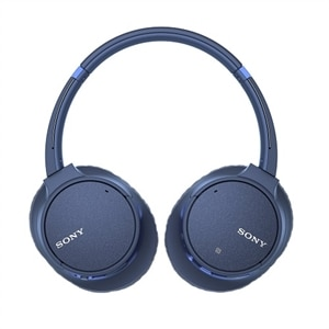 Sony WH-CH700N - Headphones with mic - full size - Bluetooth - wireless - NFC - active noise canceling - blue