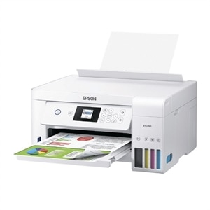 Epson EcoTank ET-2760 All-in-One Supertank Printer - Multifunction printer - color - ink-jet - 8.5 in x 11.7 in (original) - A4/Legal (media) - up to 7.7 ppm (copying) - up to 10.5 ppm (printing) - 100 sheets - USB 2.0, Wi-Fi(n)