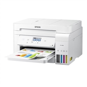 Epson EcoTank ET-4760 Wireless Color All-in-One Cartridge-Free Supertank Printer- White