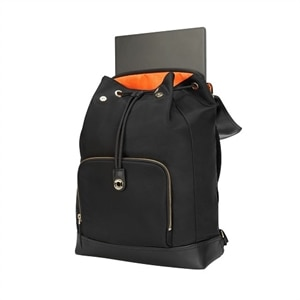Targus Newport Drawstring - Laptop carrying backpack - 15-inch - black
