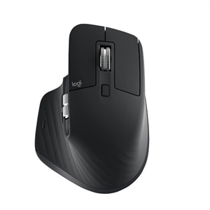 Logitech MX Master 3 Advanced Wireless Mouse - Mouse - laser - 7 buttons - wireless - Bluetooth, 2.4 GHz - USB wireless receiver - black