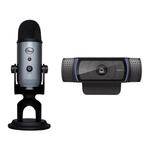 Logitech HD Pro Webcam C920 with Logitech Blue Microphones Yeti Streaming Bundle